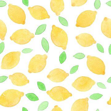 Watercolor lemons pattern by nastybo