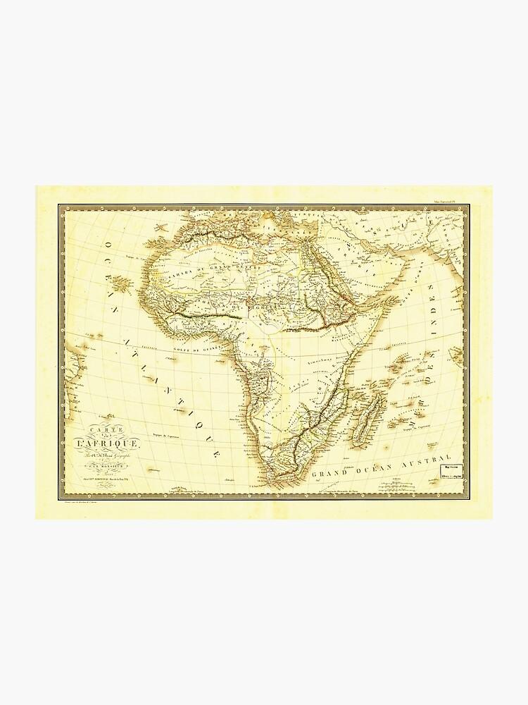 Carte De Lafrique Map.Map Of Africa Circa 1820 Carte De L Afrique Photographic Print