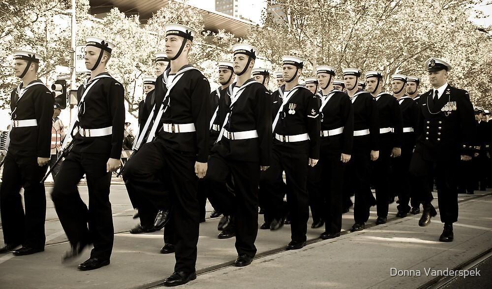ANZAC parade by Donna Vanderspek