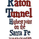 Raton Pass Sign (sticker) - Classic sign along Santa Fe Railroad by CultofAmericana