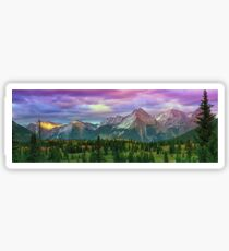 Molas Pass Sunset Panorama Sticker