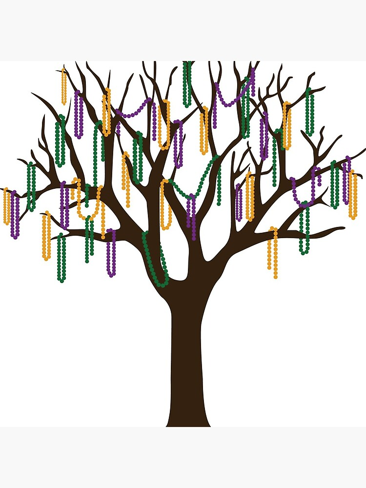 Tulane Mardi Gras Bead Tree by estoller