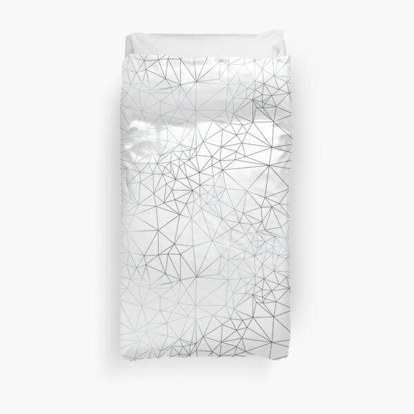 Cracked Ice White Pattern Duvet Cover