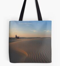 Family Sunset at Birubi Beach Sand Dunes Tote Bag
