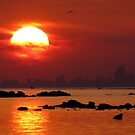 Just an ordinary sunset... by Hélène David-Cuny