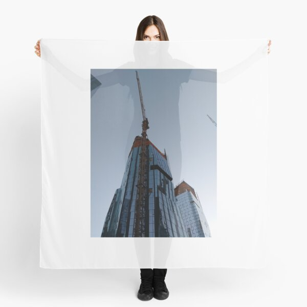 Spire, Happiness, Building, Skyscraper, New York, Manhattan, Street, Pedestrians, Cars, Towers, morning, trees, subway, station, Spring, flowers, Brooklyn Scarf