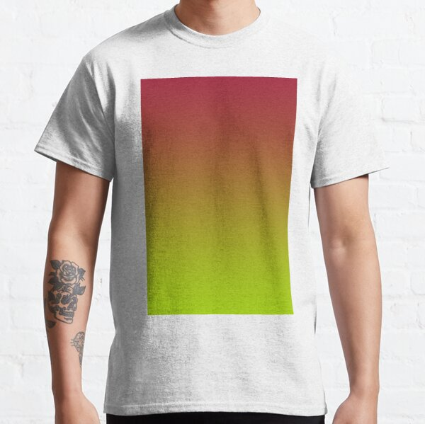 EXCLUSIVE TO OZCUSHIONS -VERY VIVID ADELAIDE SUNSET     VIVID  LIME GREEN  AND VIVID BURGUNDY    by ozcushions  Classic T-Shirt