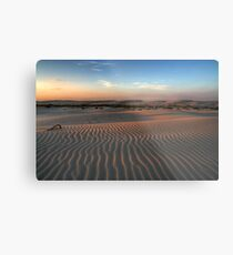 Sunset at Birubi Beach Sand Dunes 1 Metal Print