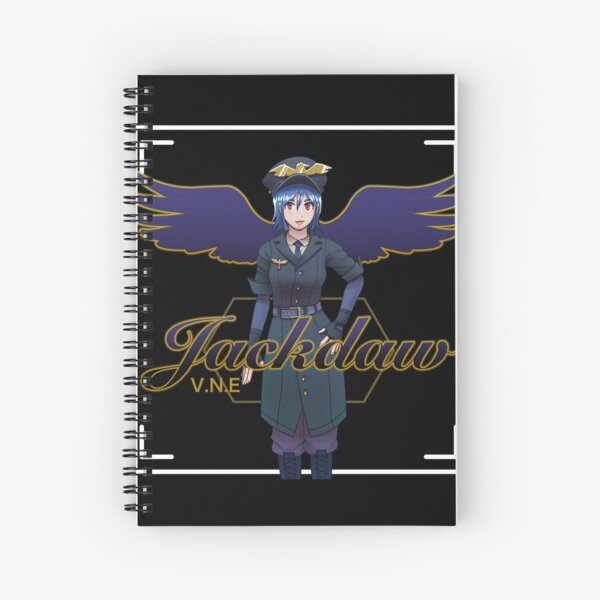 Jackdaw VNE merchandise - Black series Spiral Notebook