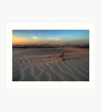 Sunset at Birubi Beach Sand Dunes 3 Art Print