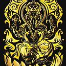 Tribal Golden Ganesh by TurkeysDesign