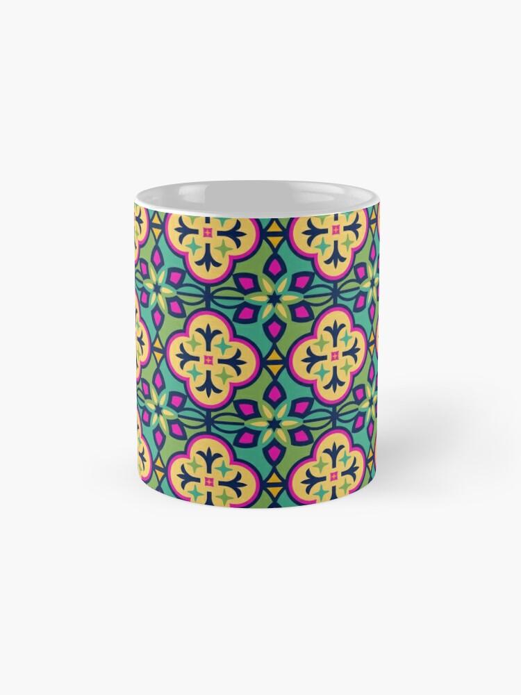 Alternative Ansicht von Buntes inspiriertes marokkanisches Fliesen-Muster Tassen