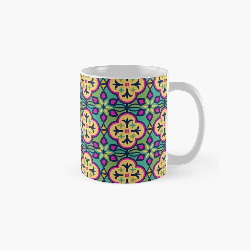 Buntes inspiriertes marokkanisches Fliesen-Muster Tassen