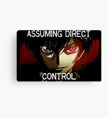 Lelouch using his Geass (Assuming Direct Control) Canvas Print