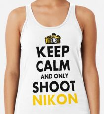 Keep Calm and Only Shoot Nikon Women's Tank Top