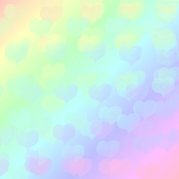 Pastel Heart Rainbow by Jaxyacks