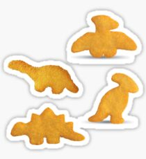 dino chicken nuggets Sticker