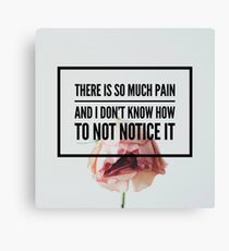 Perks Of Being A Wallflower Quote Edit Canvas Print