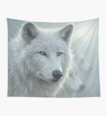 "White Wolves ""Whiteout"" Wall Tapestry"