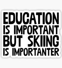 Education Important Skiing Importanter ~ Snow Ski Winter Sticker