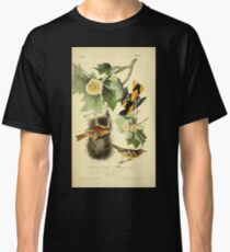 James Audubon Vector Rebuild - The Birds of America - From Drawings Made in the United States and Their Territories V 1-7 1840 - Baltimore Oriole or Hang Nest Classic T-Shirt