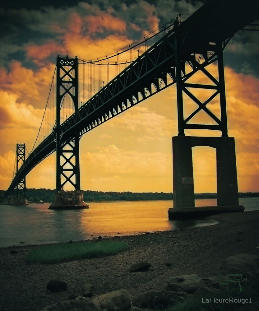 Mount Hope Bay Bridge by LaFleureRouge1