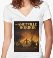 THE AMITYVILLE HORROR Women's Fitted V-Neck T-Shirt