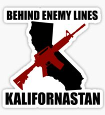 Kalifornastan (Black) Sticker
