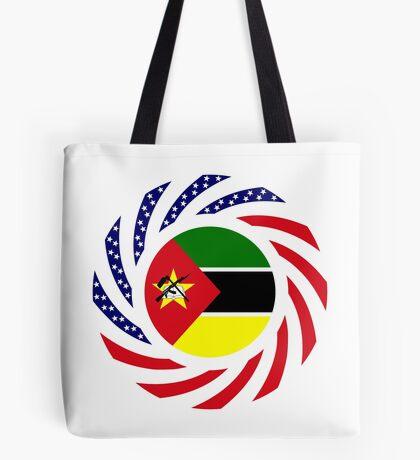 Mozambican American Multinational Patriot Flag Series Tote Bag