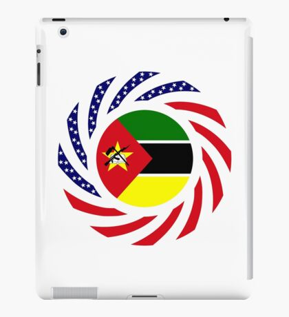 Mozambican American Multinational Patriot Flag Series iPad Case/Skin