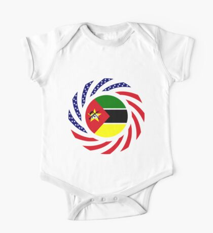 Mozambican American Multinational Patriot Flag Series Kids Clothes