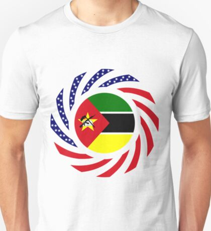 Mozambican American Multinational Patriot Flag Series T-Shirt