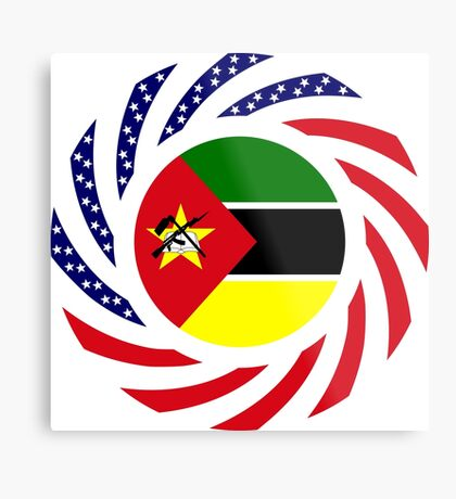 Mozambican American Multinational Patriot Flag Series Metal Print