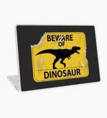 Beware of Dinosaur Old Sign  Laptop Skin