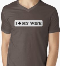 I Club My Wife Mens V-Neck T-Shirt
