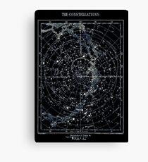STAR CONSTELLATIONS: Vintage 1900 Galaxy Karte Leinwanddruck