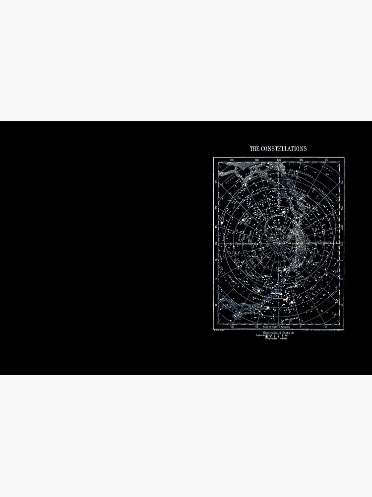STAR CONSTELLATIONS : Vintage 1900 Galaxy Chart Map by posterbobs