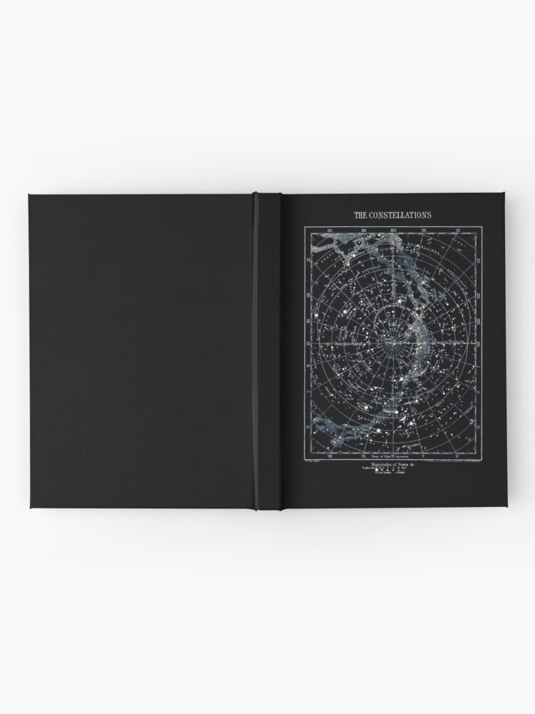 Alternate view of STAR CONSTELLATIONS : Vintage 1900 Galaxy Chart Map Hardcover Journal