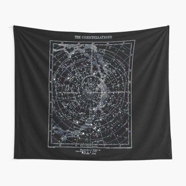 STERNKONSTELLATIONEN: Vintage 1900 Galaxy Chart Map Wandbehang
