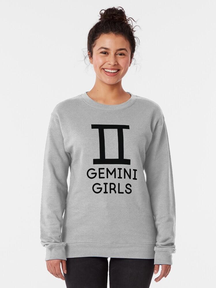 Alternate view of Gemini Girls Horoscope Astrology  Pullover Sweatshirt