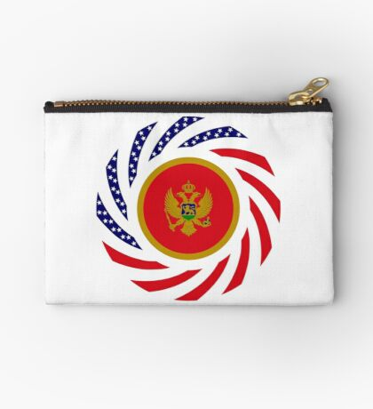 Montenegrin American Multinational Patriot Flag Series Zipper Pouch
