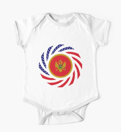 Montenegrin American Multinational Patriot Flag Series Kids Clothes