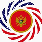 Montenegrin American Multinational Patriot Flag Series by Carbon-Fibre Media