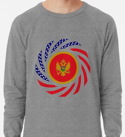 Montenegrin American Multinational Patriot Flag Series Lightweight Sweatshirt
