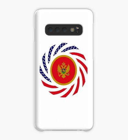 Montenegrin American Multinational Patriot Flag Series Case/Skin for Samsung Galaxy