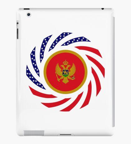 Montenegrin American Multinational Patriot Flag Series iPad Case/Skin