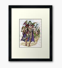 Akatra Elf Warrior Framed Print
