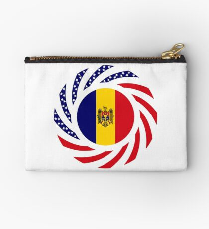 Moldovan American Multinational Patriot Flag Series Zipper Pouch