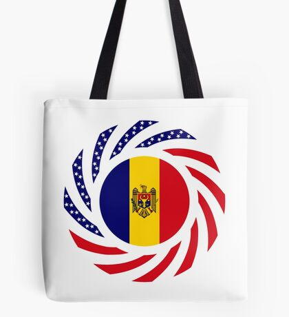Moldovan American Multinational Patriot Flag Series Tote Bag