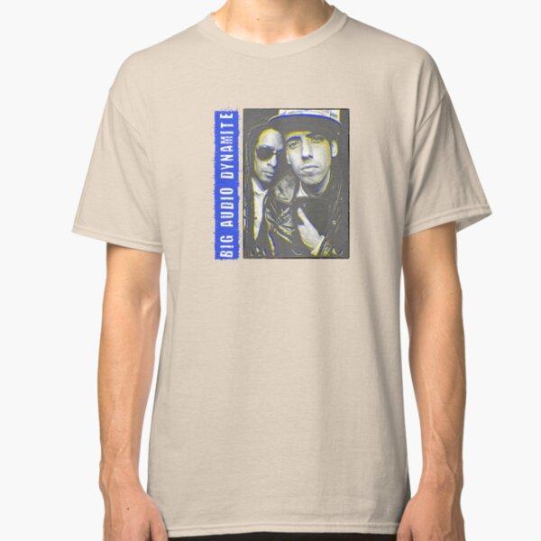 Don Letts BAD II Big Audio Dynamite Retro Logo Mick Jones Grey T-Shirt NEW